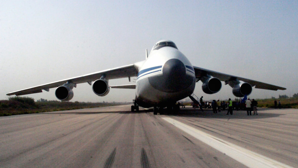 Massive Russian military transport bringing weapons and troops to Syria